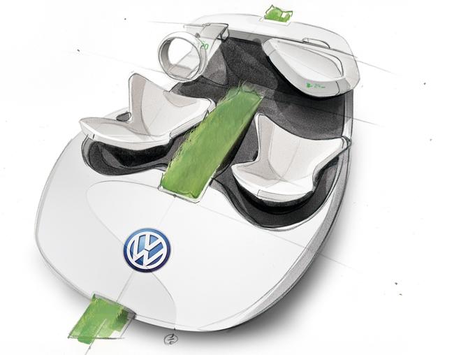 Skizze Volkswagen Grün